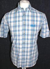 JACK WOLFSKIN - Mens Blue Striped Short Sleeved Shirt Size 34 Small Brand New