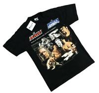 WWE Smack Down Raw Wrestling T Shirt Men's Small 2005  Cena Batista wrestlemania