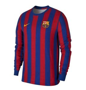 Nike Barcelona Retro Long Sleeve Men T-Shirt Football AO1101 455 MEDIUM