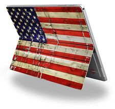 Decal Skin for Surface Pro 4 Painted Faded Cracked USA American Flag