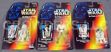 Star Wars PotF LUKE SKYWALKER R2D2 & R5D4 Action Figures Red Card Kenner '95 NIP