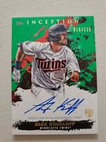 Alex Kirilloff 2021 Topps Inception On Card Auto Green RC 15/125 Minnesota Twins