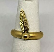 RARE UNIQUE H.STERN Purangaw Feather 18K Yellow Gold Ring