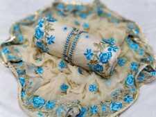 Chanderi Cotton Salwar Kameez Suits Dress Unstitched Indian Pakistani Wear Women