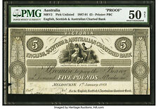 Australia English Scottish Australian Chartered Bank £5 5 Pounds 1889 Pick UNL