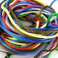 Rattail ,Assorted Colours, Satin Silk Cord ,10 x 1 m Lengths 3mm wide