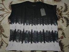 All Saints Graphic top t-shirt in size S (Black)