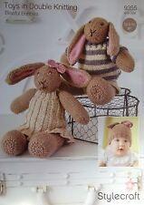 Stylecraft DK Toy Knitting pattern blissful bunnies  bunny hat 9355