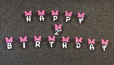 Handmade 2nd Birthday Minnie Mouse Banner