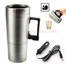 STAINLESS 12V CAR VAN KETTLE CIGARETTE LIGHTER PLUG IN WATER HEATER BOILER CUP