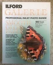 "Ilford Galerie Smooth Gloss Paper Professional Inkjet Photo 8.5"" 11"" 100 Sheets"