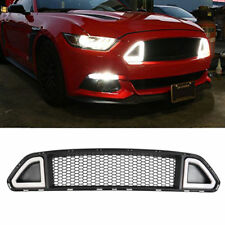 Front Hood Grill Upper Grille With DRL LED Light For Ford Mustang 2015-2017