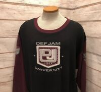 Def Jam University Vintage 90's Stretch Thermal Patched Shirt Mens Size XL EUC 2