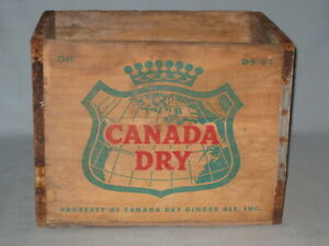 1957 CANADA DRY WOODEN BOTTLE CARRIER CRATE