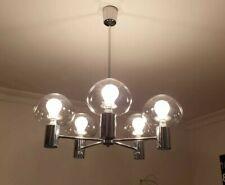 LUSTRE chrome 5 globe suspension lampe Gaetano SCIOLARI light spoutnik Jakobsson