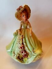 Josef Originals Lady In Green Dress Music Box figurine