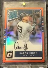 2017 PANINI DONRUSS OPTIC AARON JUDGE RATED ROOKIE  ORANGE AUTOGRAPH OUT OF 99