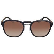 Prada Rectangle Rubber Frame Brown Gradient Sunglasses