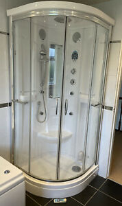 900 X900 Quadrant Shower Steam Room Cabin Used, With Radio, Spares/repairs
