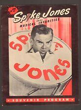 Spike Jones & Musical Insanities - Souvenir Program - (Grade VF+) WH