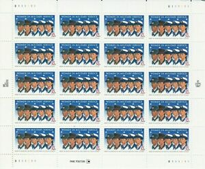Women in Military Service Sheet of Twenty 32 Cent Postage Stamps 3174
