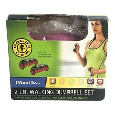Gold's Gym 2 Lb Walking Dumbbell Set (1 lb ea) Purple Fitness Exercise FAST SHIP