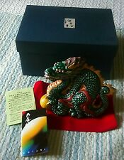 Vintage KUTANI Japanese Porcelain Lucky Dragon Figurine Statue Signed