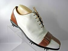 FootJoy Estate Collection Size 9.5 M Brown White Golf Cleats Golf Shoes Women's