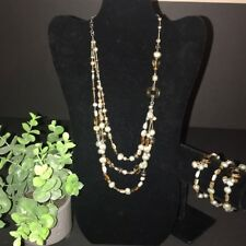Silpada SET, Jasper Brass Labradorite Necklace N2231 Bracelet B2222 Set $238