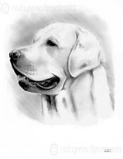 LABRADOR Art Print *Can be customised with your dogs name* Ideal Bespoke Gift