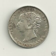 1899 N9's  CANADA NEWFOUNDLAND 92.5% SILVER 50 CENT #2