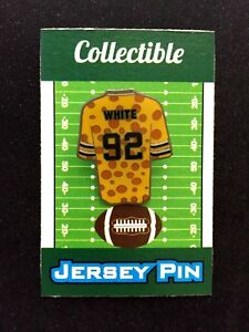 Green Bay Packers Reggie White jersey lapel pin-#1 Collectible Cheesehead