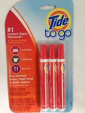 TIDE TO GO PEN 3 PACK STAIN REMOVER WINE COFFEE LAUNDRY FAST FREEPOST FROM UK