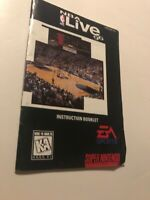 NBA Live 96 SNES Super Nintendo Original MANUAL Instruction Booklet ONLY!