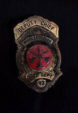 New listing Middleborough Massachusetts Ma Fireman Fire Badge Cairns Helmet Olson Braxmar