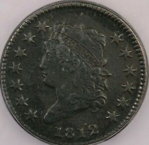 1812-P 1812 Classic Head Large Cent ICG VF20 Small Date