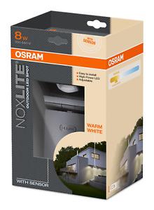OSRAM LED Außenleuchte mit Sensor: Noxlite LED Spot 8W, warmweiß, schwenkbar