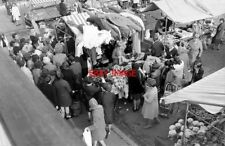 PHOTO  1971 MARKET IN STONE CROSS THE HIGH HARLOW THE FABRIC STALL-HOLDER HAD DR