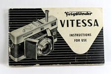 Voigtlaender Vitessa  Instruction Book, 40 pages