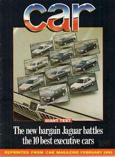 Jaguar XJ6 3.2 XJ40 Road Test 1991 UK Market Brochure Car XM 5-Series W124 Volvo