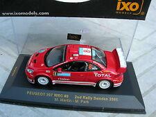 IXO models 1/43 RARE PEUGEOT 307 WRC N°8 2éme RALLY Suede 2005 Martin/Park!!