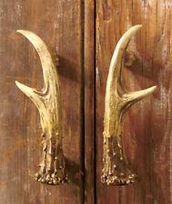 Set of 2 rustic Deer antler cabinet door pull handle lodge cabin wildlife Decor