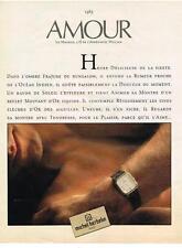 PUBLICITE  1985  MICHEL HERBELIN  montres AMOUR