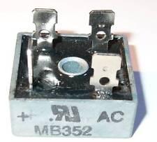35 Amp 200 Volt Bridge Rectifier - Metal Case - 35A 200V - 1-1/8 Square w/ Hole