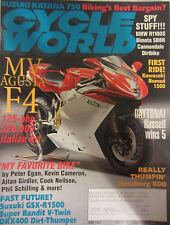 Cycle World Magazine June 1998 Suzuki Katana 750 Spy Stuff!!! BMW R1100S Bimota