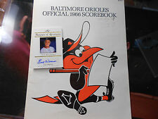 Earl Weaver /5 autograph auto signed LOT 1966 BALTIMORE ORIOLES Program