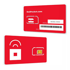Red Pocket Mobile Gsma Sim Card For Att Or Unlocked Phones.