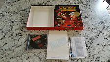 WarCraft: Orcs & Humans Original box and NotePad version DOS CD ROM