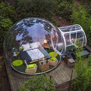 Tent inflatable bubble camping dome transparent blower pvc outdoor 3m commercial
