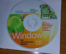 WINDOWS 7 32/64 & Drivers Recovery ReInstall Repair Home Premium &Pro